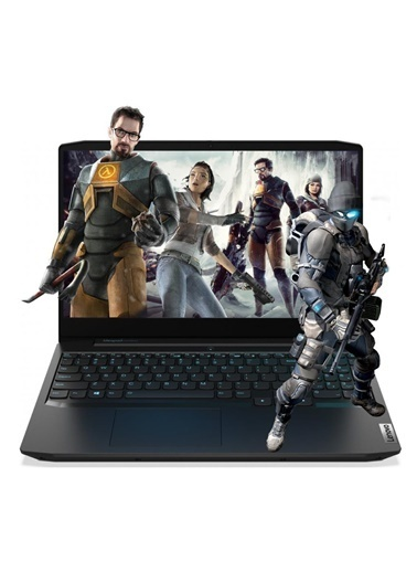 "Lenovo Lenovo Gaming 3 82EY00D1TX13 Ryzen 5 4600H 32GB 512SSD GTX1650 15.6"" FullHD FreeDOS Taşınabilir Bilgisayar Renkli"